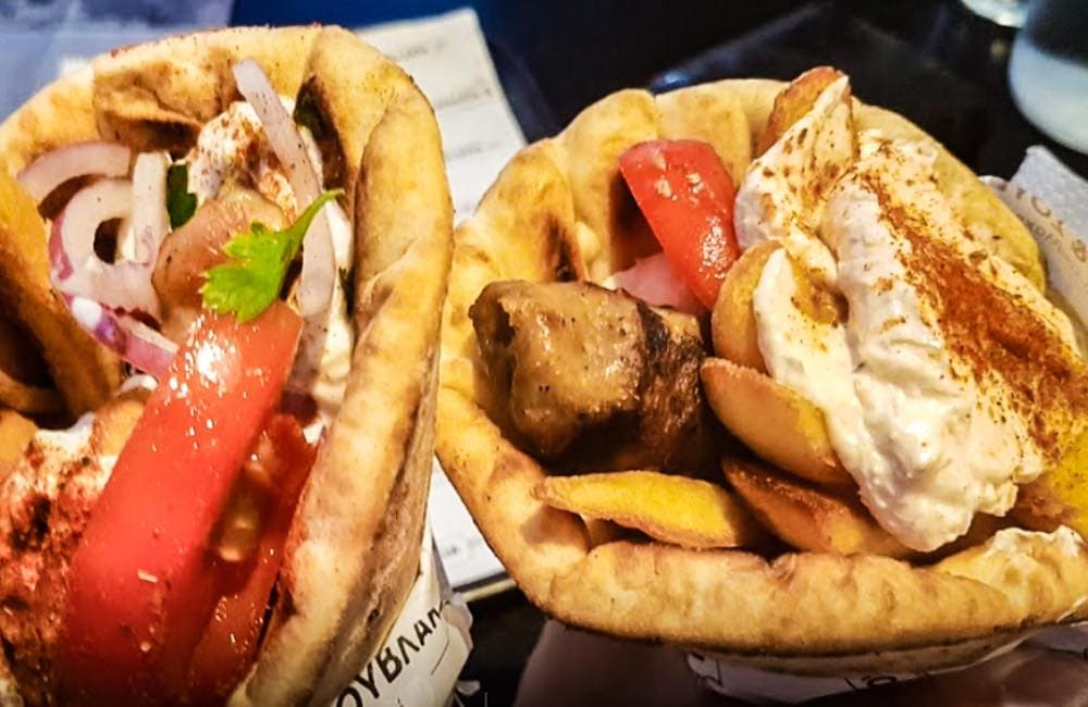 Souvlaki or Gyros, Street food Greece