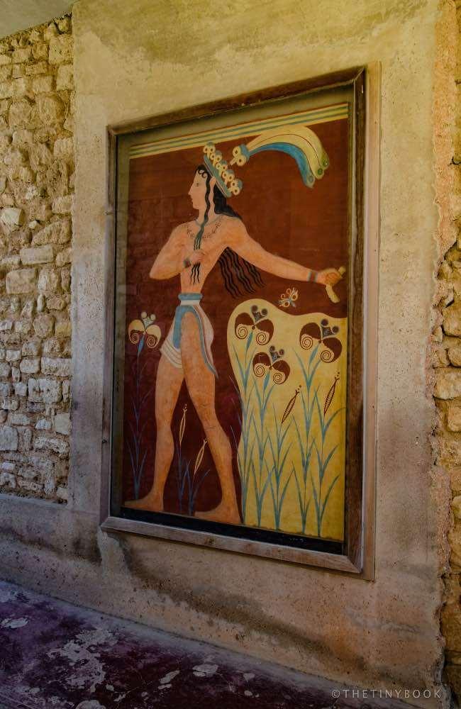 Fresco, Minoan Palace, Heraklion, Greece