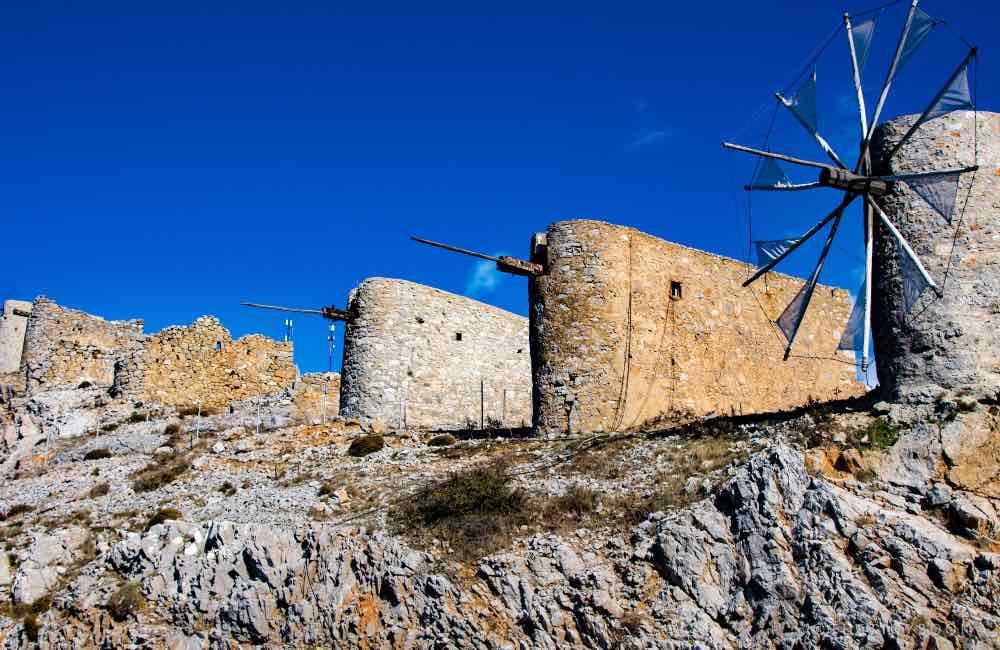 Stone windmills from Crete