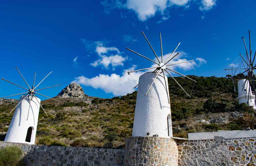 Old windmills from Greece, Crete