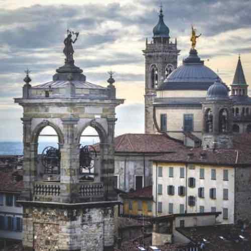 Domes of Medieval town, Bergamo