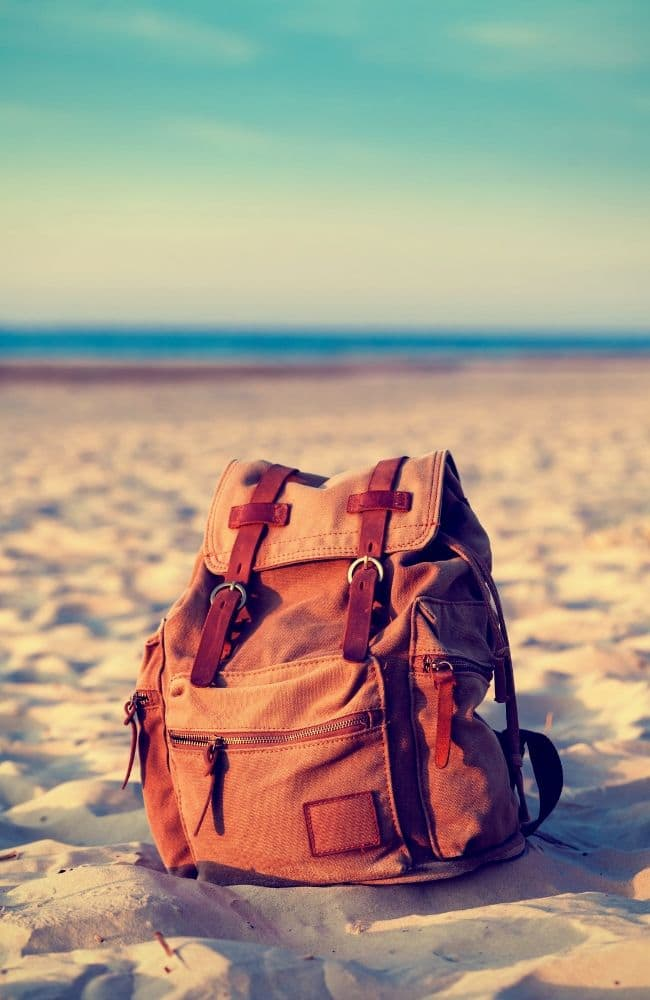 Backpack, beach