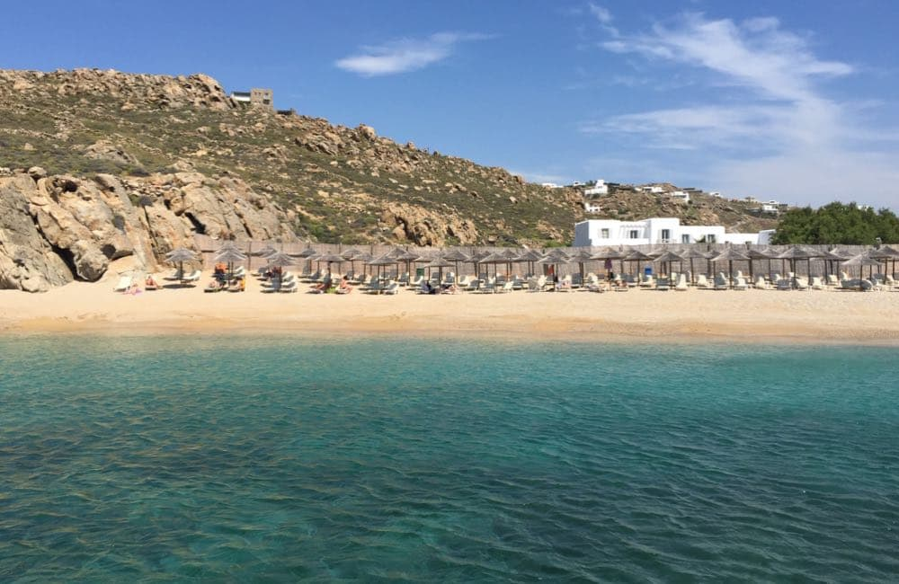 Elia Beach, Mykonos, Greece