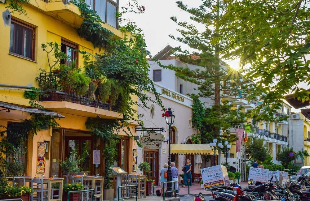 GREECE- CRETE - RETHYMNON - OLD TOWN - PEDESTRIAN STREET