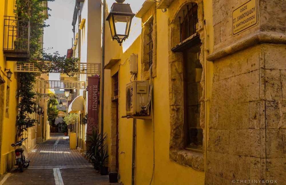 GREECE - CRETE - RETHYMNON - ALLEY OLD TOWN