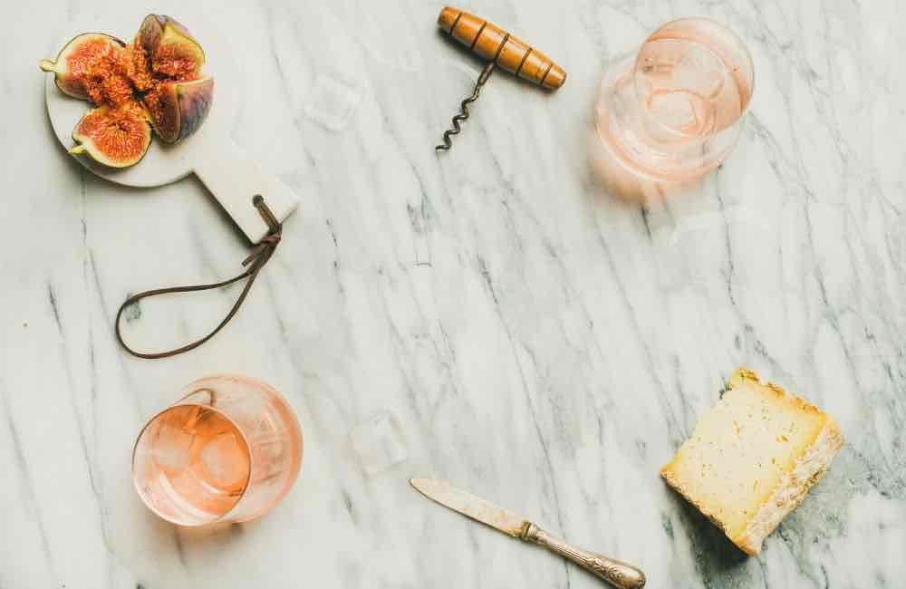 Cretan wines - rose wine - cheese - figs