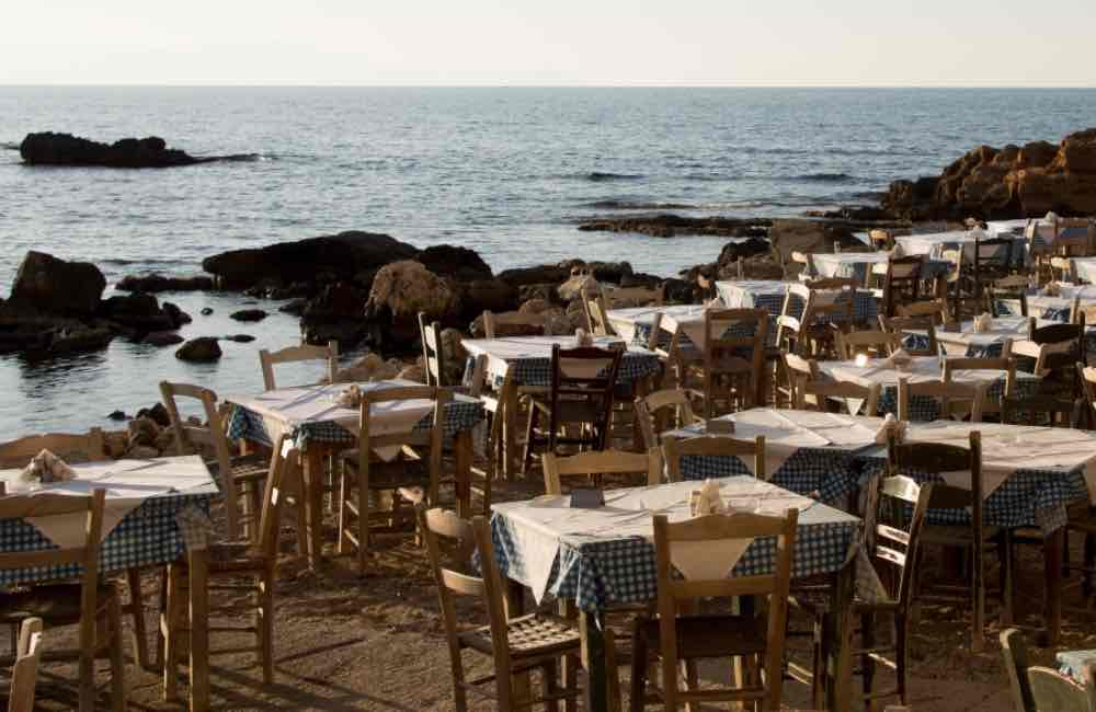 GREECE - CRETE - CHANIA - THALASSINO AGERI RESTAURANT BY THE SEA