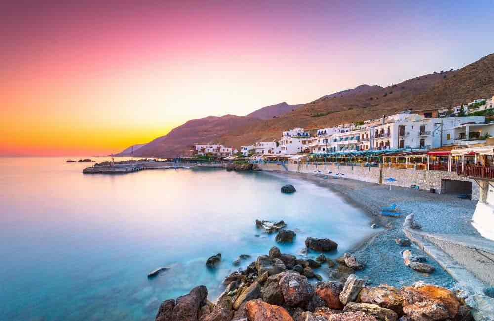 GREECE - CRETE - LOUTRO - SUNSET