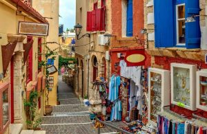 GREECE - CRETE - CHANIA - OLD TOWN ALLEY (1)