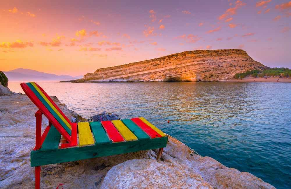 GREECE-CRETE-MATALA-SUNSET-LOUNGE