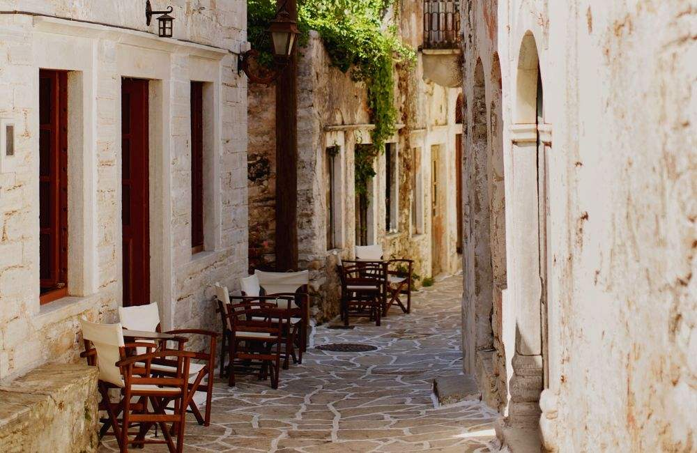 GREECE - NAXOS - HALKI - ALLEY (1)