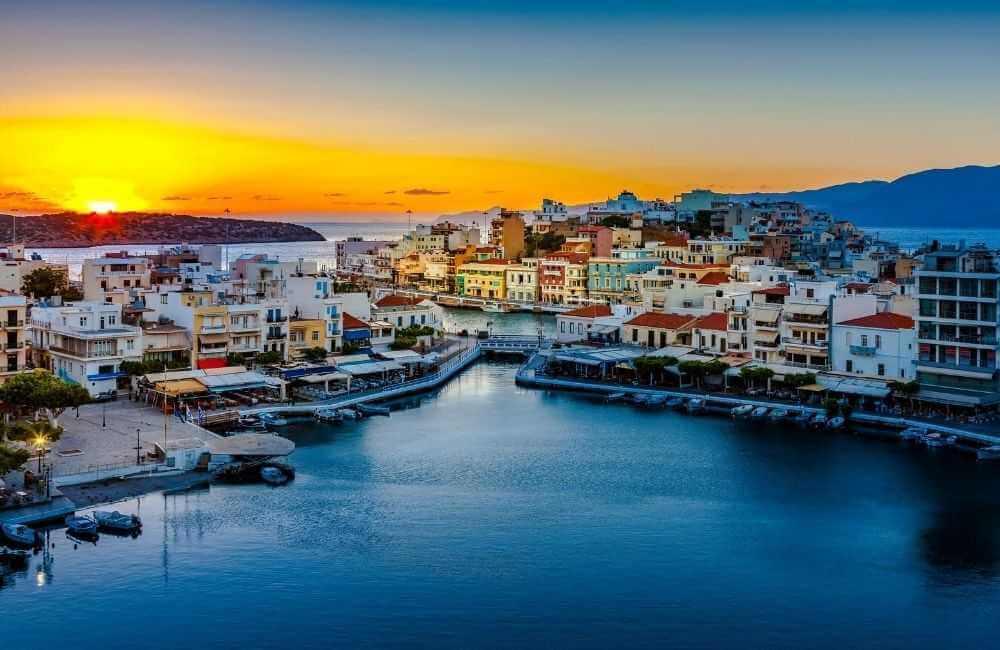 GREECE - CRETE - AGIOS NIKOLAOS LAKE VOULISMENI