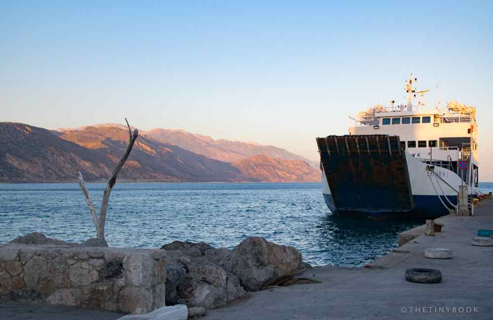 GREECE - CRETE - PALEOCHORA FERRY