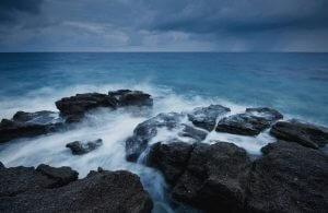 GREECE - CRETE - BEACH - RAIN