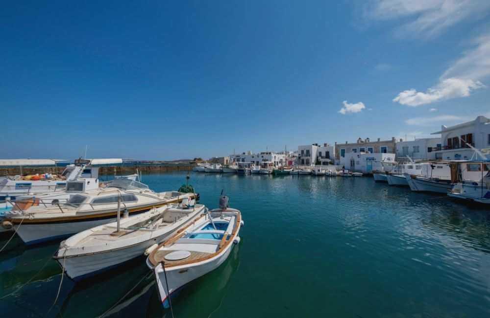 Paros Port and caiques