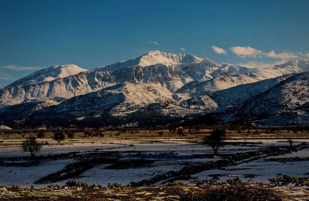 Greece - Crete - Lasithi, Lasithi Plateau in Winter