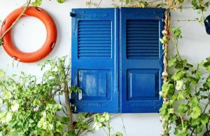 Greece - Aegina - Home - Blue window
