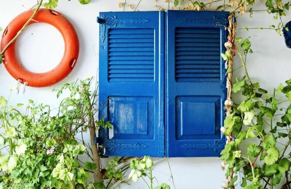 Greece - Aegina - Home - Blue window