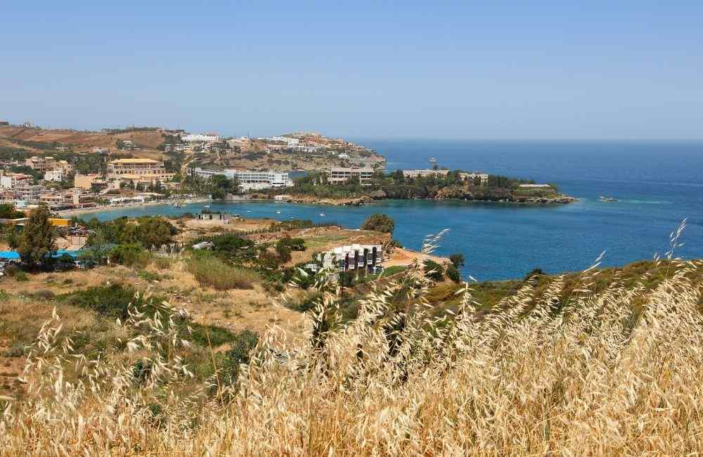 Agia Pelagia, One of the best beaches in North Heraklion, Crete.