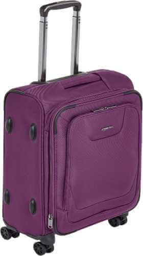 Amazon Basics Expandable Softside Carry-On Spinner Luggage Suitcase With TSA Lock And Wheels - 23 Inch, Purple