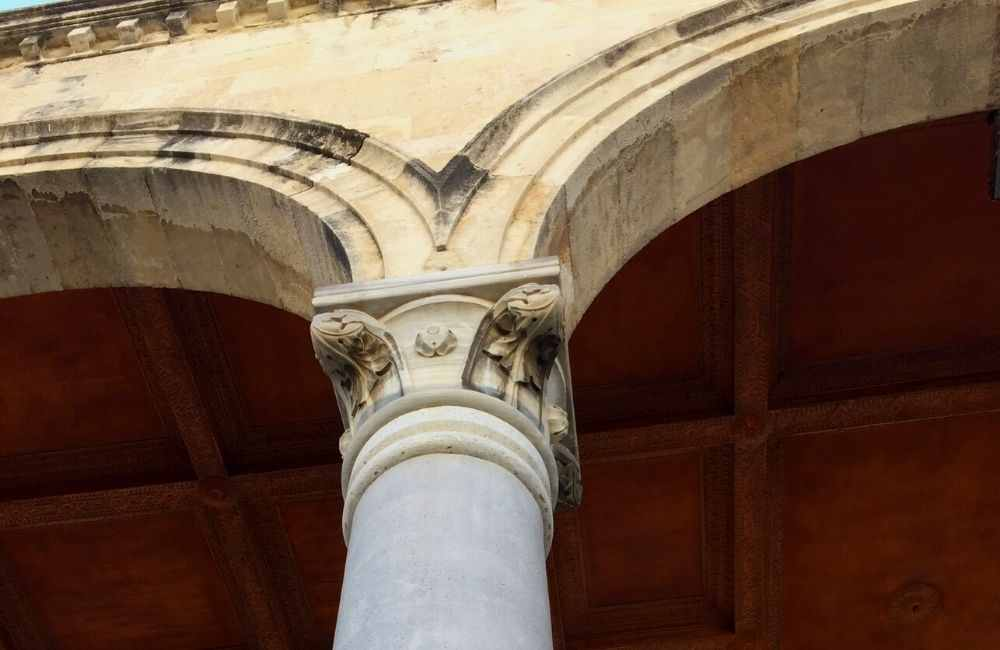 Detail architecture Saint Mark Basilica Heraklion Crete
