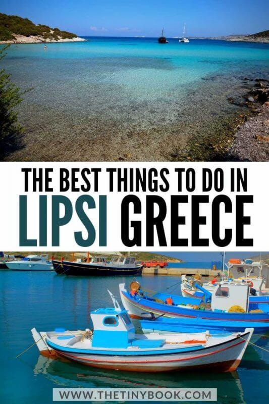 Relaxing things to do in Lipsi, Greece
