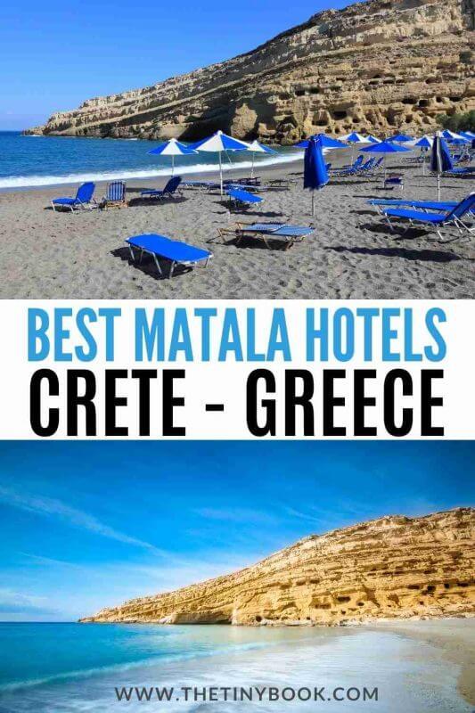 Where to stay in Matala Crete - Matala hotels