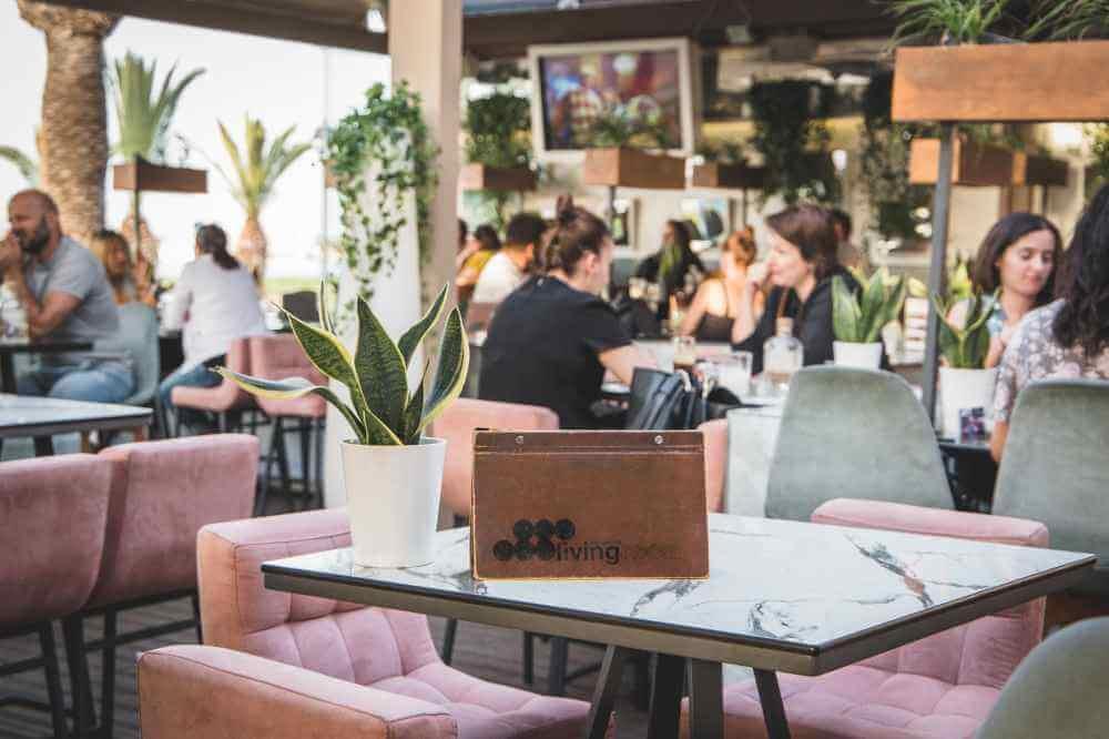Living room cafe rethymnon, crete