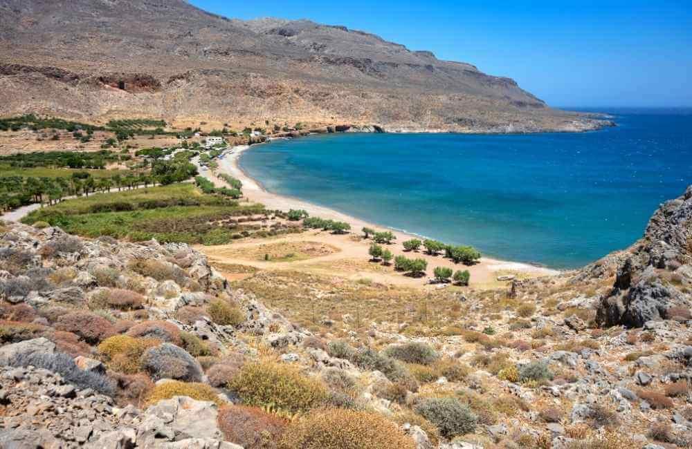 Kato Zakros Beach at the end of Zakros Gorge in Crete