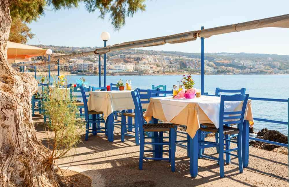 Restaurant by the sea Crete