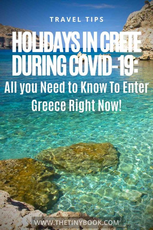 Holidays in Crete during Covid-19: What you Need to Know To Enter Greece Right Now!